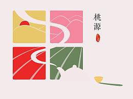 【镇旗】绿城·桃源小镇 镇旗设计