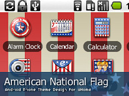 "android手机主题设计""American National Flag"""