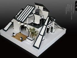 学生时代的作品——人水卫浴展厅模型制作(原创)