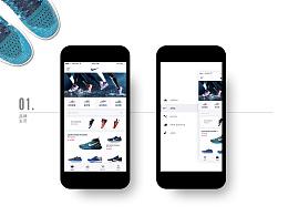 品牌鞋子商店移动应用