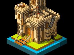 一个系列的小建筑