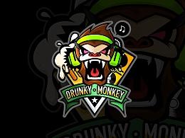 夜店logo——喝醉的猴子2