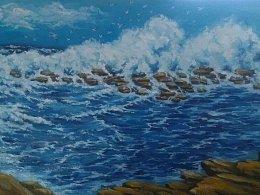 海  的油画