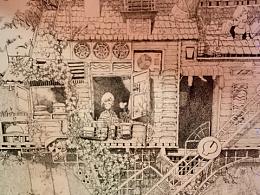 从小到大的钢笔画(树屋系列)