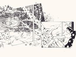 杂志黑白插图2
