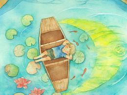 水中的小船