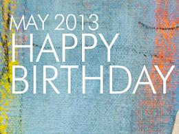 公司2013全年每个月一次的生日卡