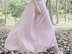 韵文原创服装设计品牌女式文艺丝绵宽松系带质感夏背心连衣长裙