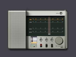 ui icon 产品 练习 交流 ps Braun收音机