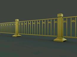 北京长安街黄金护栏的建模与渲染