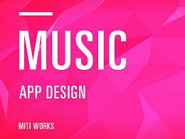 【MUSIC APP DESIGN】 GUI页面配色练习/CSD