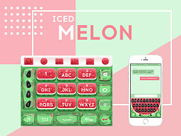 ICED MELON手机输入法主题皮肤