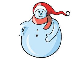 冬季圣诞堆个雪人