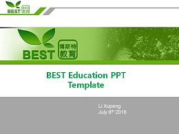 BEST Education PPT Template