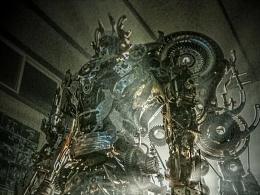 九素(北京)原创机械装置雕塑---影武者I