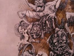 一张好久好久以前的畵,属宗教画类,希望你们喜欢,也欢迎吐槽