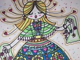 儿童画《妈妈节日快乐》