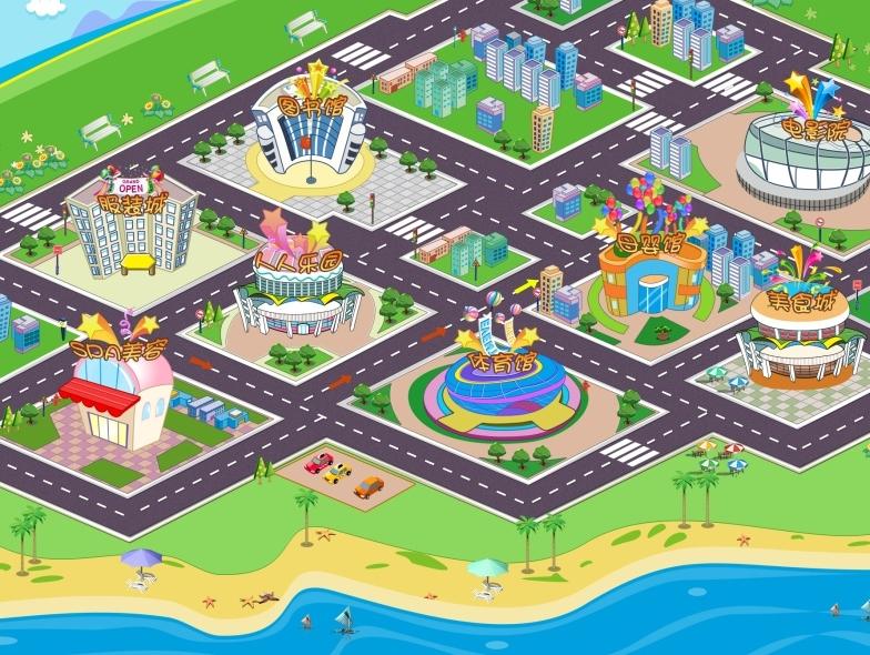 乐园深化手绘平面图