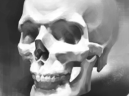 原画学习中,头骨。头骨