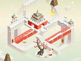 纪念碑谷丨大雪,西安古城