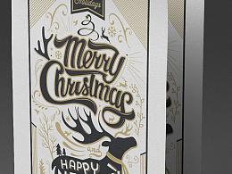 Typography christmas card design 2015