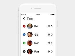 排行榜 Leaderboard - Daily UI