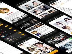演界APP界面设计展示/影投Ui界面/手机APP GUI/项目展示/详情页