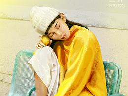 穿黄衣服的女孩——手绘