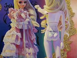 《魔镜》75CM×75CM 布面油画 2013