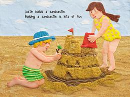 儿童插儿童插图橡皮泥绘本