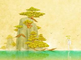 插画《旅程之外》过程及图层图