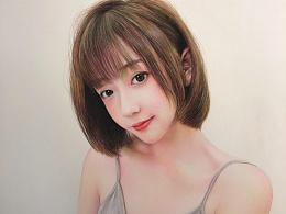 彩铅画人物肖像
