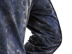21度晨原创设计男装品牌麂皮连帽偏襟外套