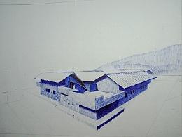 嗯,房子〈<圆珠笔画>〉
