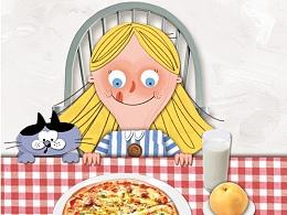 英语绘本《晚餐可以吃匹萨吗》