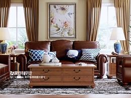 [斯特视觉]-美式客厅