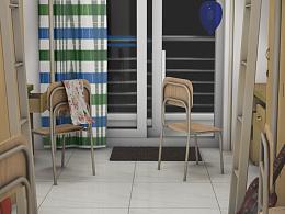 大学寝室室内模型渲染展示图