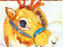 《圣诞驯鹿阿果的梦想》短篇绘本