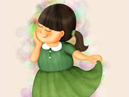 湖南卫视《一年级》插画之我很胖,可是我很温柔