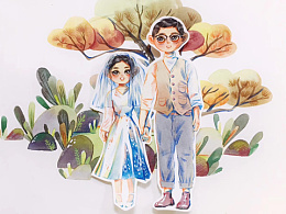 #存图#婚礼主题插画