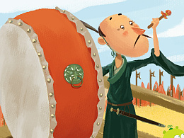 为上海华图图豆文化传播有限公司画的孙子兵法插画