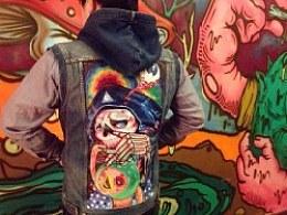 【SAY】手绘DIY牛仔服过过程和经验分享