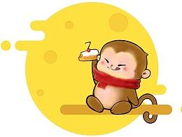 生日快乐的小猴子