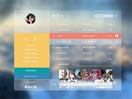 音乐界面-网页-游戏/娱乐-doris_dongding - 原创作品