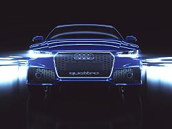 C4D丨Full CG Audi RS7