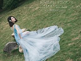 婚纱写真客照分享《蓝美人》
