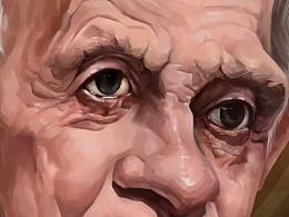 1994年诺贝尔经济学奖《约翰·纳什肖像漫画》