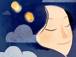 原创作品:原创作品:原创作品:原创作品:云朵工厂#说晚安吧#让我用插画,跟你说一句,晚安 第六更