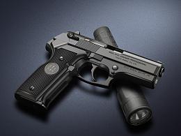 伯莱塔B8045F手枪(ps、鼠标、 数位板绘制)