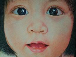 原创彩铅---《可爱的小娃娃》--MM